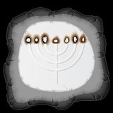 Holocaust Remembrance Day, paper menorah. Vector illustration Royalty Free Stock Image