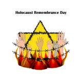 Holocaust Remembrance Day. Vector illustration on  background Royalty Free Stock Images
