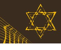 Holocaust sign. Star of David and Barbed wire. Holocaust sign Stock Photos