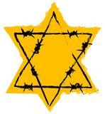 Holocaust sign. Star of David and Barbed wire. Holocaust sign Royalty Free Stock Photos