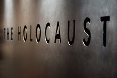 The Holocaust Sign Stock Images
