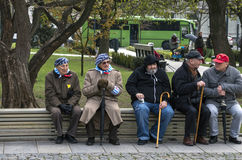 Holocaust survivors Royalty Free Stock Image
