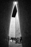 Holocaust tower in Jewish museum in Berlin, Germany. BERLIN, GERMANY - APRIL 9: Holocaust tower in Jewish museum on April 9, 2017 in Berlin royalty free stock photos