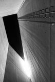 Holocaust tower in Jewish museum in Berlin, Germany. BERLIN, GERMANY - APRIL 9: Holocaust tower in Jewish museum on April 9, 2017 in Berlin stock photos