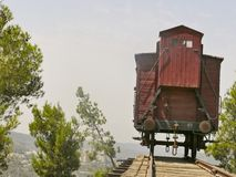 Holocaust train at Yad Vashem in Jerusalem Stock Photos