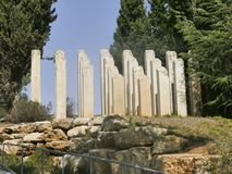 Holocaustbeeldhouwwerk in Yad Vashem in Jeruzalem Royalty-vrije Stock Afbeeldingen