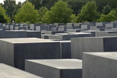 Am Holocaustdenkmal Berlin Stockfoto