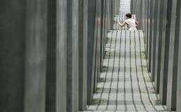 Am Holocaustdenkmal Berlin Lizenzfreie Stockbilder
