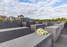 Holocaustdenkmal in Berlin Stockbild