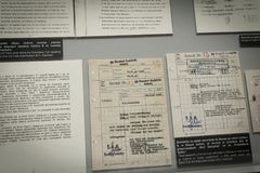 Holocauste Auschwitz commémoratif - Birkenau - Pologne image stock