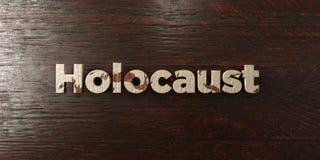Holocauste - titre en bois sale sur l'érable - image courante gratuite de redevance rendue par 3D illustration stock