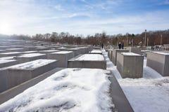 Holocaustgedenkteken in Berlijn, Duitsland Stock Foto's
