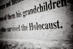 Holocaustgravure Royalty-vrije Stock Foto's