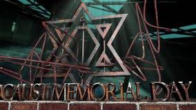 Holocaustvolkstrauertagsymbol stock footage