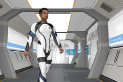 Holodeck Corridor Royalty Free Stock Photography