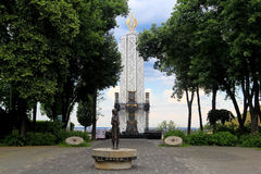 Holodomor memorial in Kiev - the candle of memory Royalty Free Stock Photography