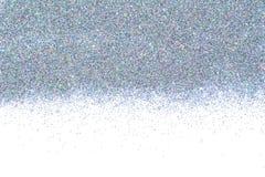 Holograficzna multicolor chrom granica Cekinu proszek Barwiona błyskotliwość Zdjęcie Royalty Free