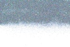 Holograficzna multicolor chrom granica Cekinu proszek Barwiona błyskotliwość lśnienie tła Obraz Stock