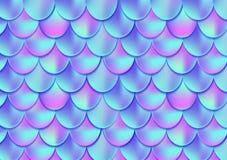 Holograficzna syrenka ogonu karta lub tło Siatka gradientu merma royalty ilustracja
