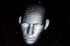 Holograficzna twarz zdjęcie royalty free