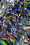 Holograficznej dyskoteki tęczy Abstrakcjonistyczny Błyszczący tło Fotografia Stock