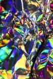 Holograficznej dyskoteki tęczy Abstrakcjonistyczny Błyszczący tło Zdjęcie Royalty Free