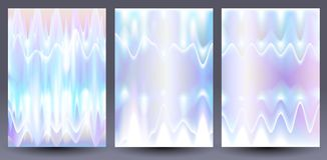 Holograficzni colourful tła ustawiający Fotografia Royalty Free