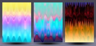 Holograficzni colourful tła ustawiający Obraz Royalty Free