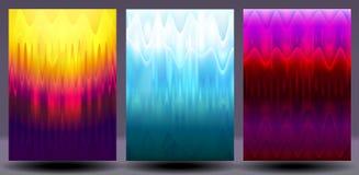 Holograficzni colourful tła ustawiający Obrazy Stock
