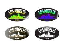 Holograficzny majcher Los Angeles Obraz Stock