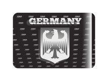 Holograficzny majcheru Niemcy srebro Obraz Royalty Free