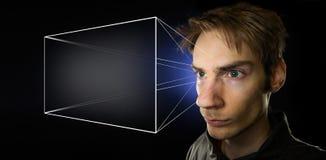 Holografisch Heelal stock foto's