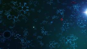 Holografisch Molecule en Atom Structures Royalty-vrije Stock Foto's