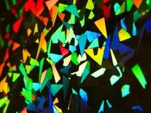 Holografische abstracte kleurrijke regenboogachtergrond Stock Afbeeldingen