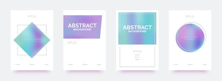 Holografische in banners, brochures, vliegers, achtergronden met abstracte gradiëntvormen vector illustratie