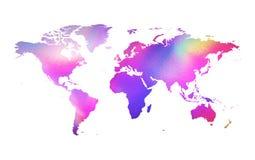 Holografische kaart Royalty-vrije Stock Afbeelding