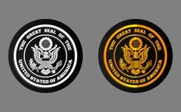 Holografische sticker de V.S. Royalty-vrije Stock Fotografie