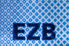 Hologram на евро Билле Стоковые Фотографии RF