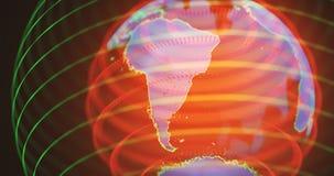 Hologram Ameryka Południowa Zdjęcia Stock