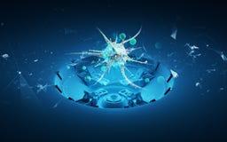 Hologram 3d virus cell royalty free stock image