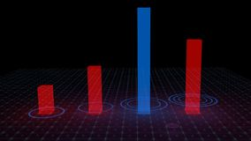 Hologram die statistieken tonen Stock Foto
