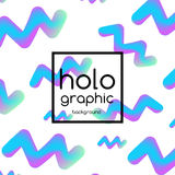 Hologram fluid neon Royalty Free Stock Photography