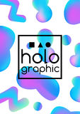 Hologram fluid neon Stock Photography