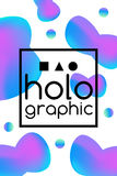 Hologram fluid neon Royalty Free Stock Photo