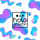 Hologram fluid neon Royalty Free Stock Images