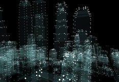 Hologram futuristic interface city Stock Photography