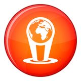Hologram globe icon, flat style Royalty Free Stock Photo