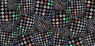 Hologram mozaiki dyskoteki piłek 3d lustrzany tło Błyskotliwość srebnych sfer konceptualna nowożytna ilustracja ilustracji