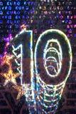 Hologram på en euroräkning Arkivfoto