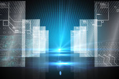 Hologram på futuristisk bakgrund Arkivbilder